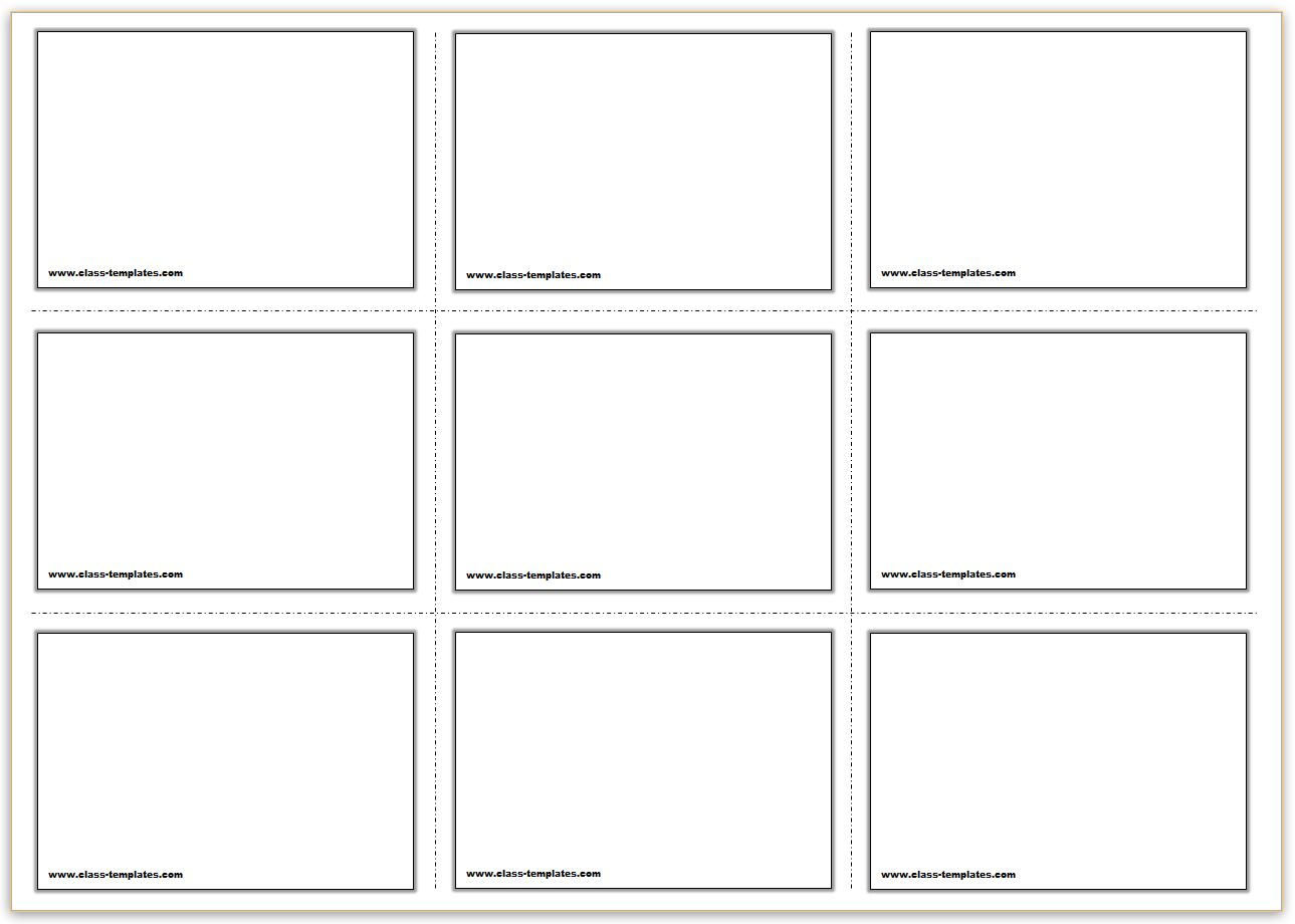 Free Printable Flash Cards Template With Queue Cards Template
