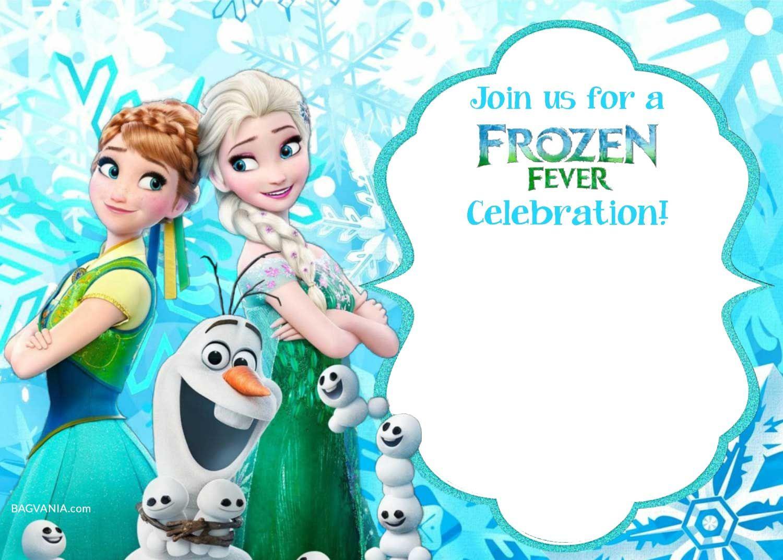 Free Printable Frozen Invitation Templates | Bagvania Free With Regard To Frozen Birthday Card Template