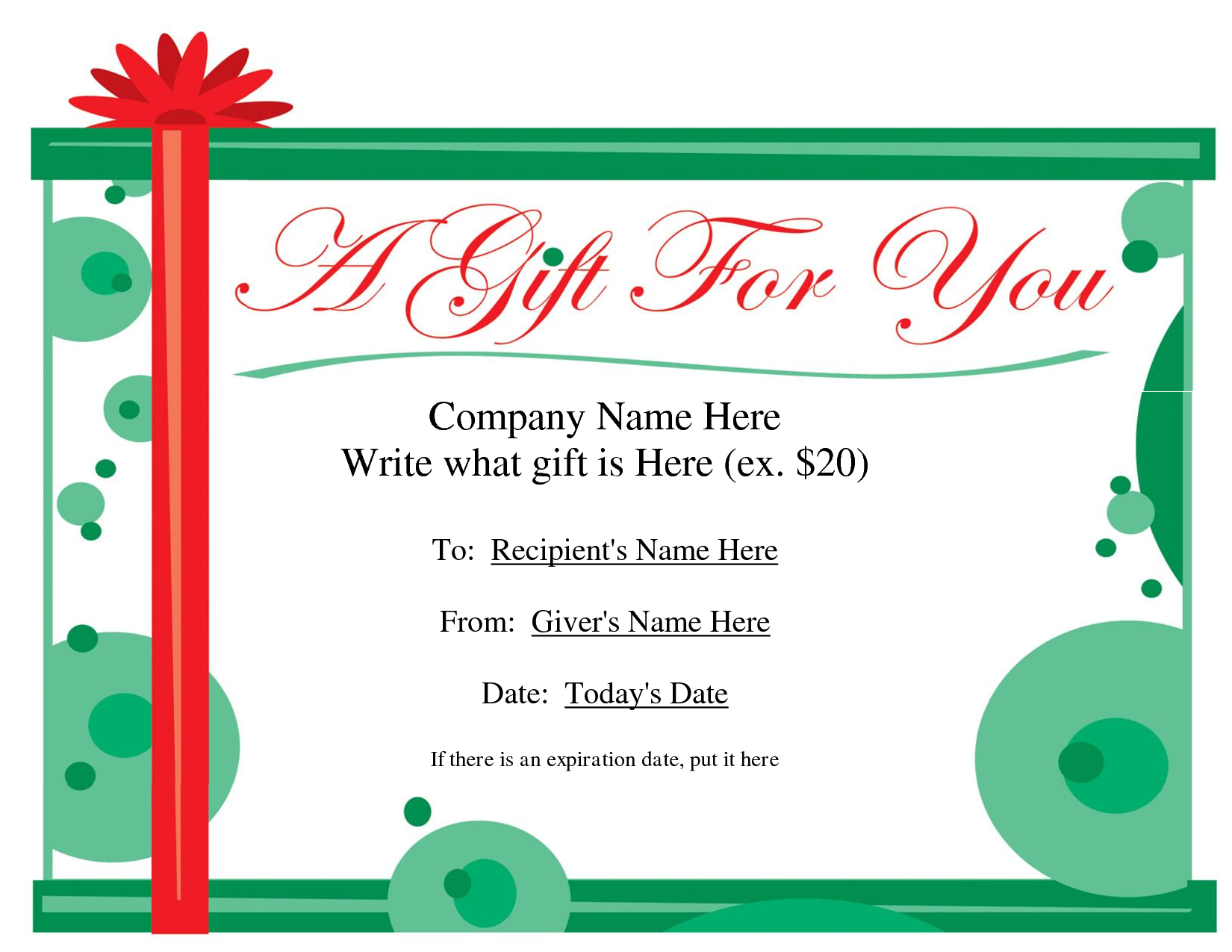 Free Printable Gift Certificate Template   Free Christmas Regarding Homemade Gift Certificate Template