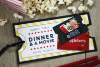 Free Printable} Give Date Night For A Wedding Gift | Gcg throughout Movie Gift Certificate Template