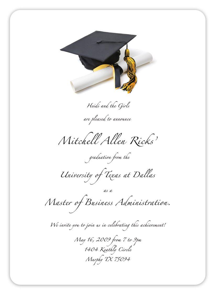 Free Printable Graduation Invitation Templates 2013 2017 With Graduation Party Invitation Templates Free Word