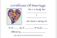 Free Printable Keepsakemarriage Certificates Www.thisjoyous for Love Certificate Templates