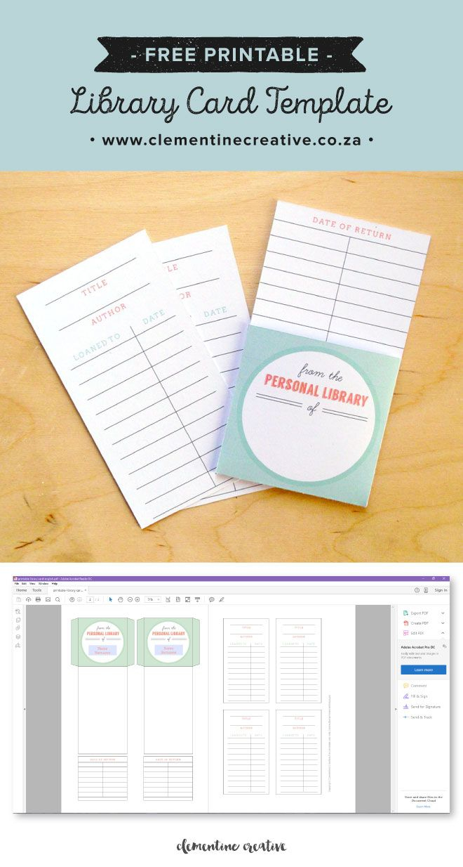 Free Printable Library Cards | Printables | The Best In Library Catalog Card Template