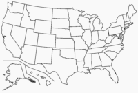 Free Printable Map Of The United States Blank Save Template with regard to Blank Template Of The United States