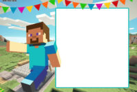 Free Printable Minecraft Birthday Invitation Template intended for Minecraft Birthday Card Template