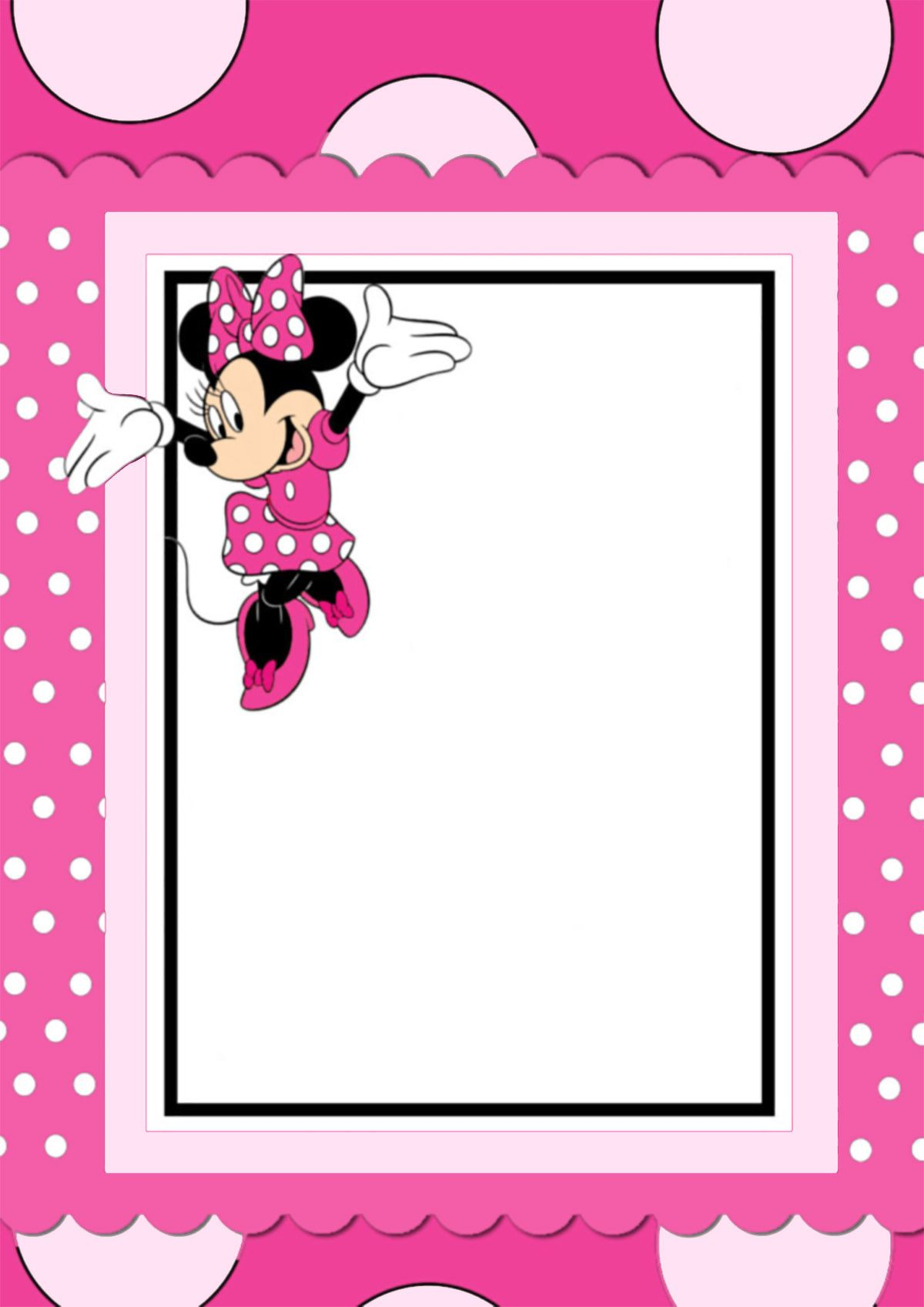Free Printable Minnie Mouse Invitation Card | Crafts With Regard To Minnie Mouse Card Templates