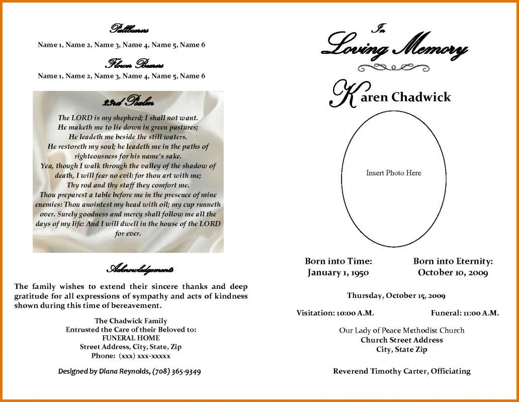 Free Printable Obituary Templates   Template   Funeral Within Obituary Template Word Document
