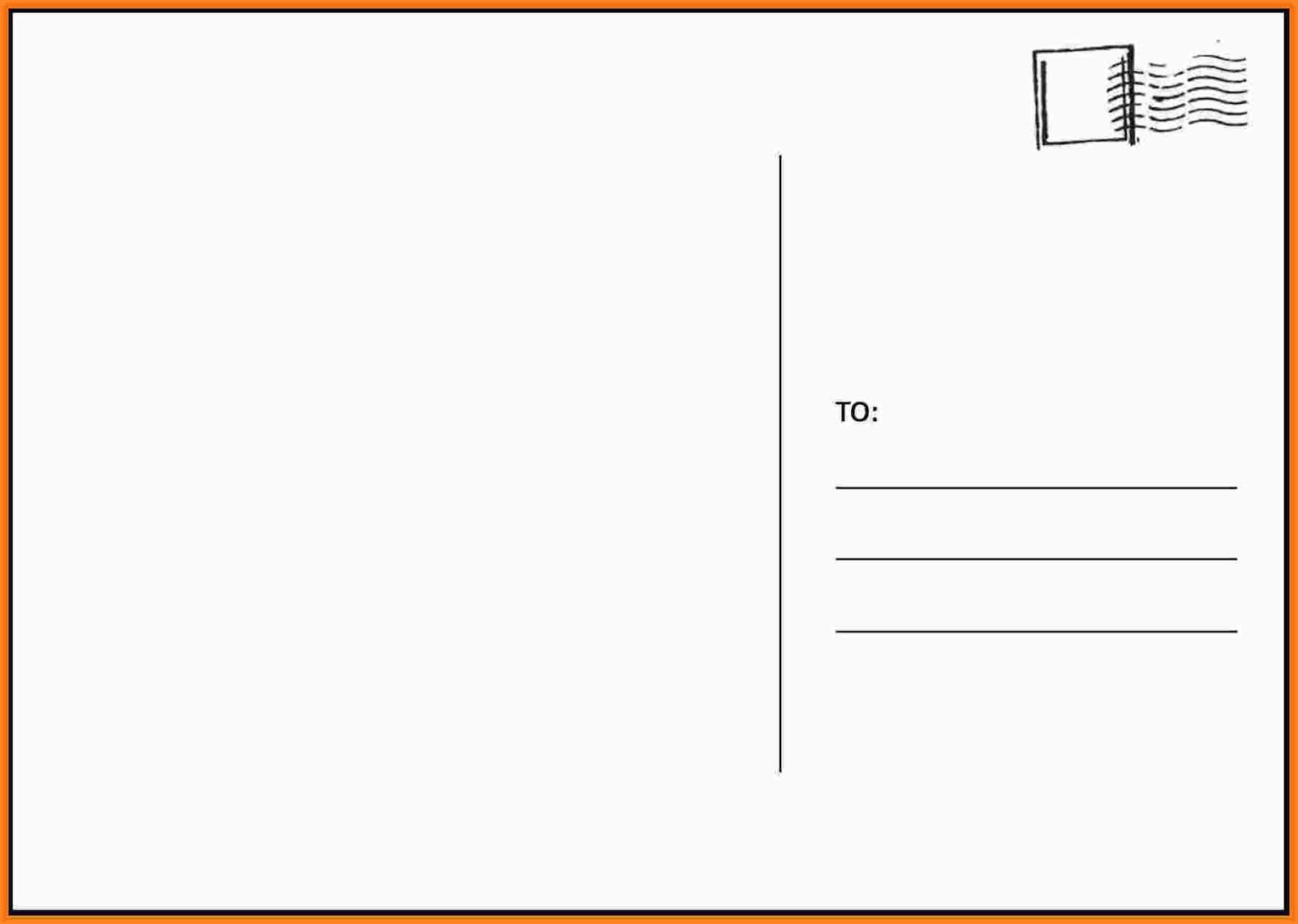 Free Printable Postcard Templates Within Microsoft Word 4X6 Postcard Template
