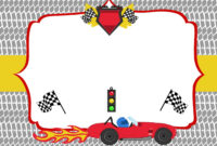 Free Printable Race Car Birthday Party Invitations – Updated regarding Blank Race Car Templates