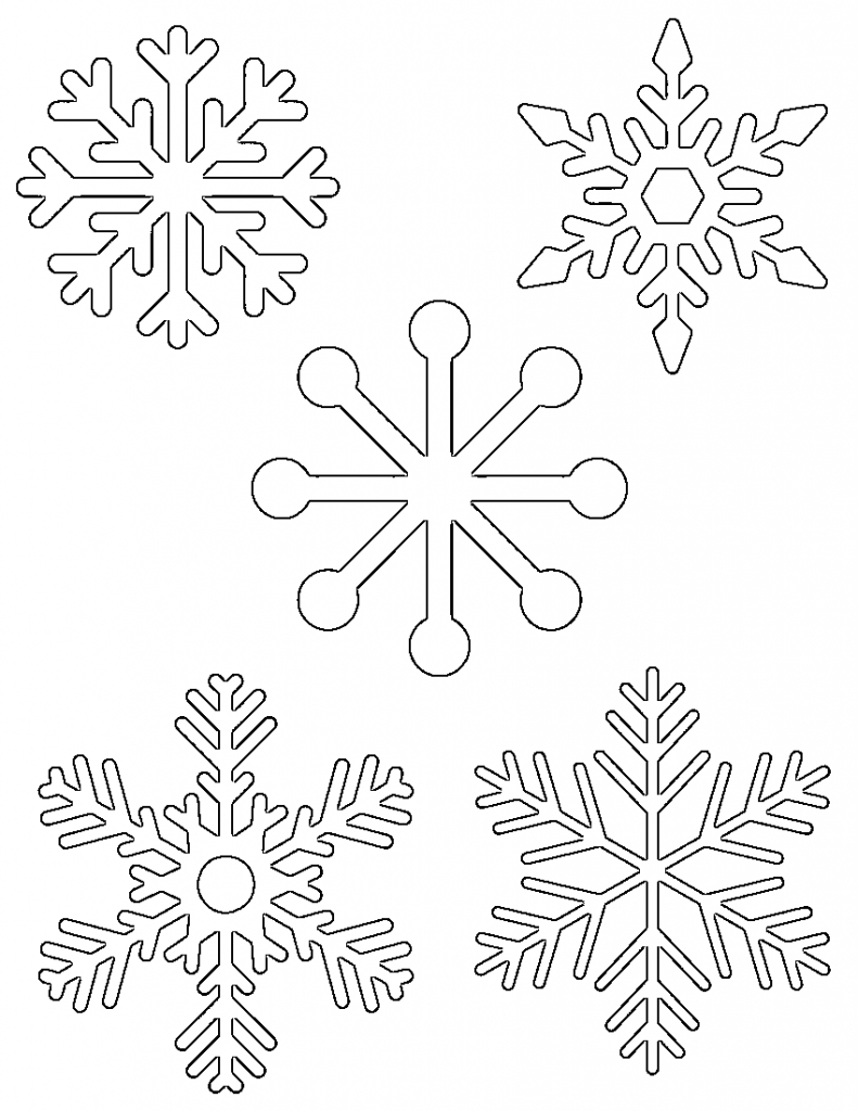 Free Printable Snowflake Templates – Large & Small Stencil Within Blank Snowflake Template