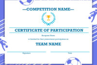 Free Printable Soccer Certificate Four Sports Awards within Soccer Certificate Template Free