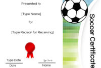 Free Printable Soccer Certificate Templates Award Maker Edit pertaining to Soccer Certificate Templates For Word