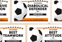 Free Printable Soccer Certificate Templates Editable Award for Soccer Certificate Template Free