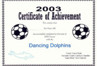 Free Printable Soccer Certificate Templates Editable Kiddo for Soccer Certificate Templates For Word