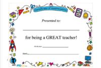 Free Printable Teacher Appreciation Certificates | Mult Igry With Regard To Best Teacher Certificate Templates Free