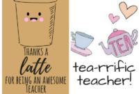 Free Printable Teacher Appreciation Thank You Cards in Thank You Card For Teacher Template