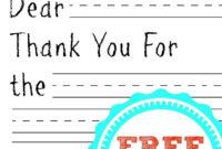 Free Printable Thank You Card   Kids Thank You Note pertaining to Free Printable Thank You Card Template