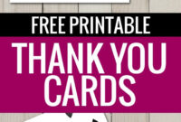 Free Printable Thank You Cards   Freebies   Printable Thank throughout Free Printable Thank You Card Template