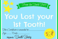Free Printable Tooth Fairy Certificate | 40 | Tooth Fairy inside Tooth Fairy Certificate Template Free