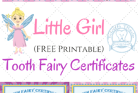 Free Printable Tooth Fairy Certificates | 1St Grade | Tooth regarding Tooth Fairy Certificate Template Free