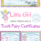 Free Printable Tooth Fairy Certificates   1St Grade   Tooth Throughout Free Tooth Fairy Certificate Template