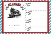 Free Printable Vintage Train Ticket Invitation Template with Blank Train Ticket Template