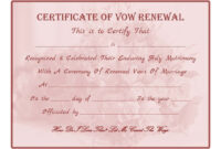 Free Printable – Vow Renewal Certificate | Cheap Wedding inside Anniversary Certificate Template Free
