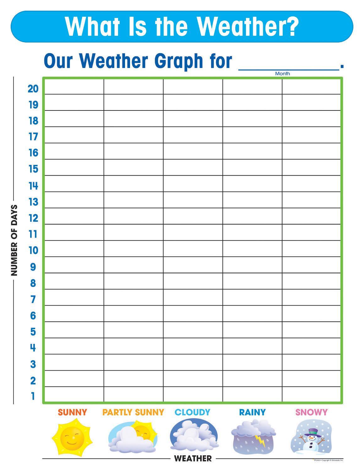 Free Printable Weather Graphs For Kindergarten Inside Kids Weather Report Template