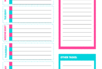 Free Printable Weekly Cleaning Checklist – Sarah Titus With Regard To Blank Cleaning Schedule Template