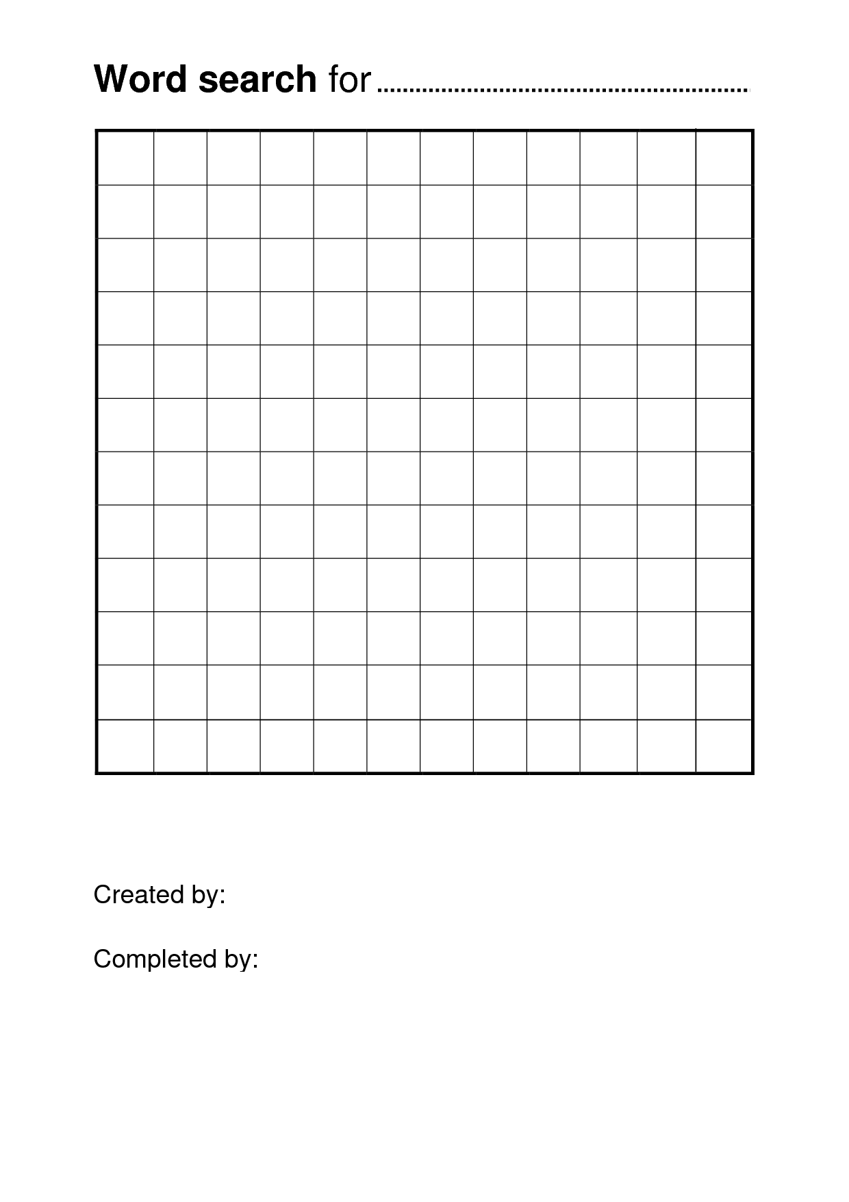 Free Printable Word Search Puzzle Templates | Pisanie | Free Within Word Sleuth Template