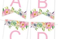 Free Printables | Birthday Banner | Free Printable Banner in Diy Birthday Banner Template