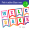 Free Printables} Welcome Back Banner   Children's Ministry Within Welcome Banner Template