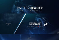 Free Professional Gaming Twitter Header Psd Template 2017 regarding Twitter Banner Template Psd