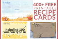 Free Recipe Cards – Cookbook People intended for 4X6 Photo Card Template Free