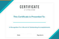 Free Sample Format Of Certificate Of Appreciation Template for Certificate Of Recognition Word Template