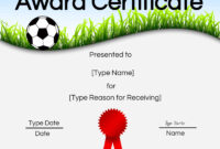 Free Soccer Certificate Maker | Edit Online And Print At Home throughout Soccer Certificate Templates For Word