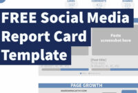 Free Social Media Report Card Template (Photoshop .psd) inside Free Social Media Report Template
