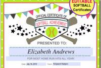Free Softball Award Certificate Templates throughout Softball Certificate Templates