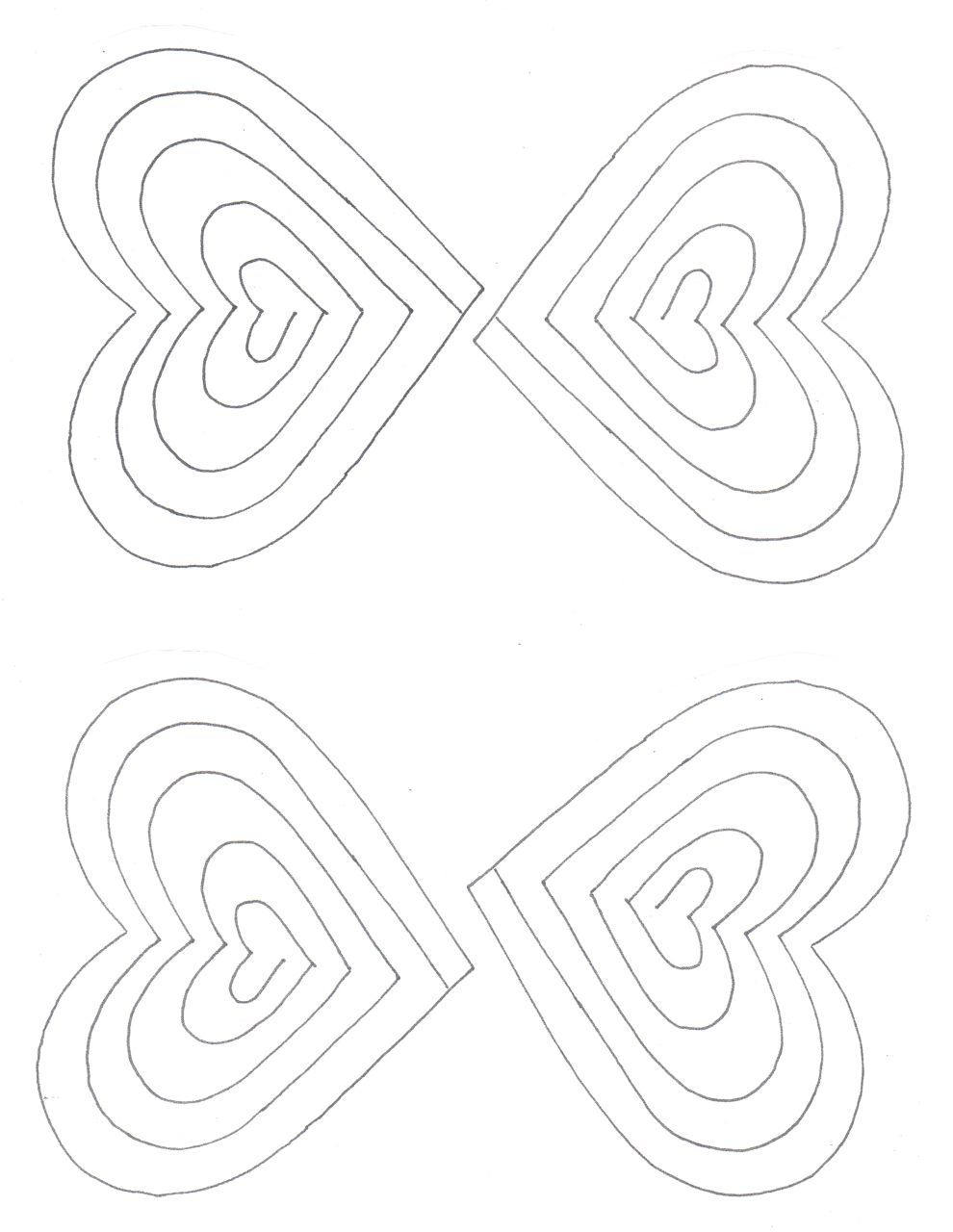 Free Spiral Heart Printable Template | Valentines | Pop Up Regarding Heart Pop Up Card Template Free