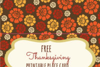 Free Thanksgiving Printables – Frugal Fanatic For Thanksgiving Place Card Templates