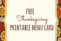Free Thanksgiving Printables – Frugal Fanatic With Thanksgiving Place Card Templates