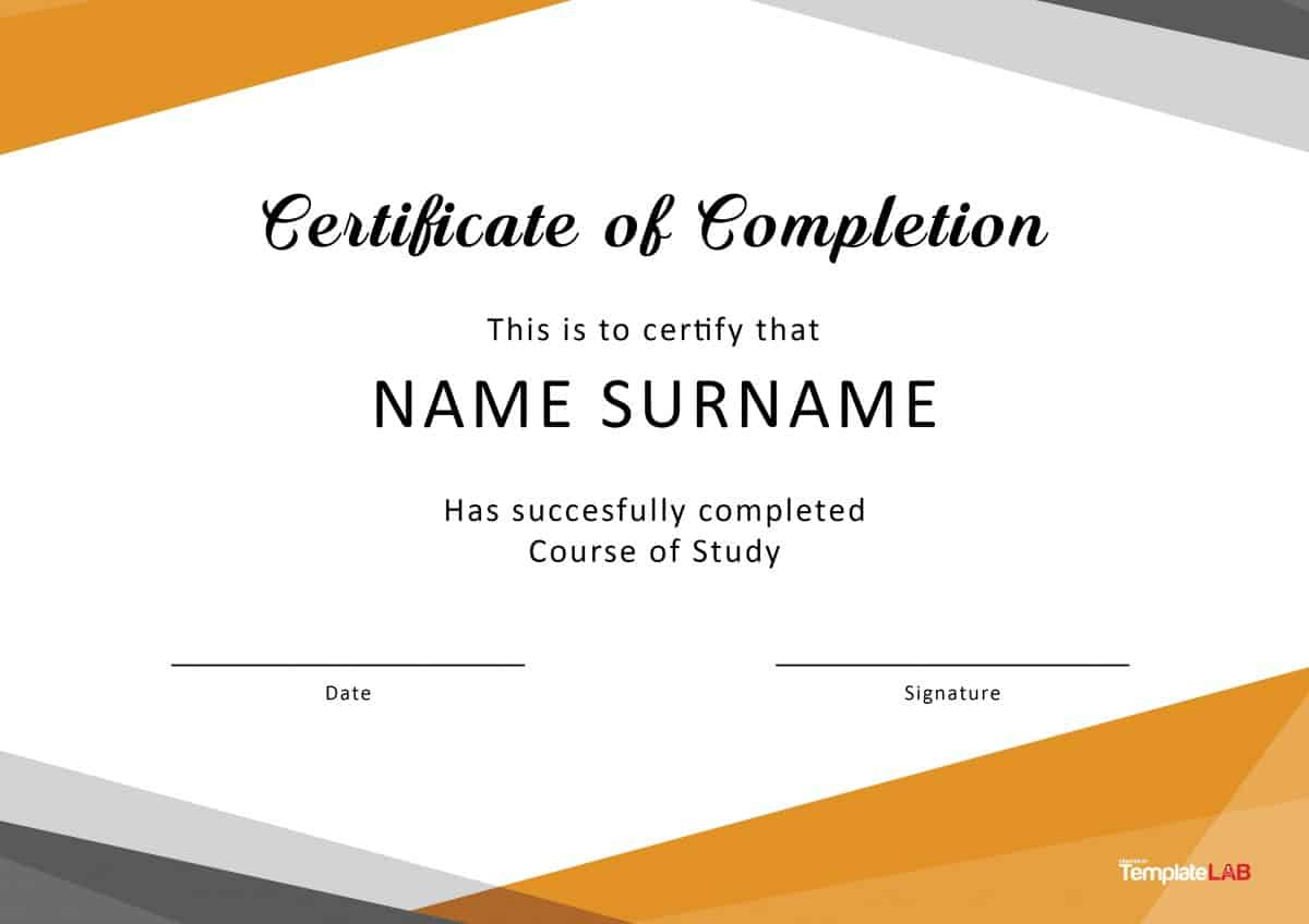 Free Training Completion Certificate Templates For Free Training Completion Certificate Templates