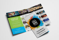 Free Tri-Fold Brochure Template For Events & Festivals – Psd with 2 Fold Brochure Template Free