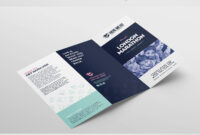Free Tri-Fold Brochure Template For Fundraisers & Charity in Quad Fold Brochure Template