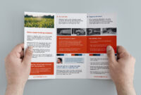 Free Trifold Brochure Template In Psd, Ai & Vector for 3 Fold Brochure Template Psd