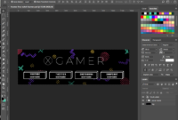 Free Twitch Banner Template In Psd (And How-To) / 4Vector pertaining to Adobe Photoshop Banner Templates