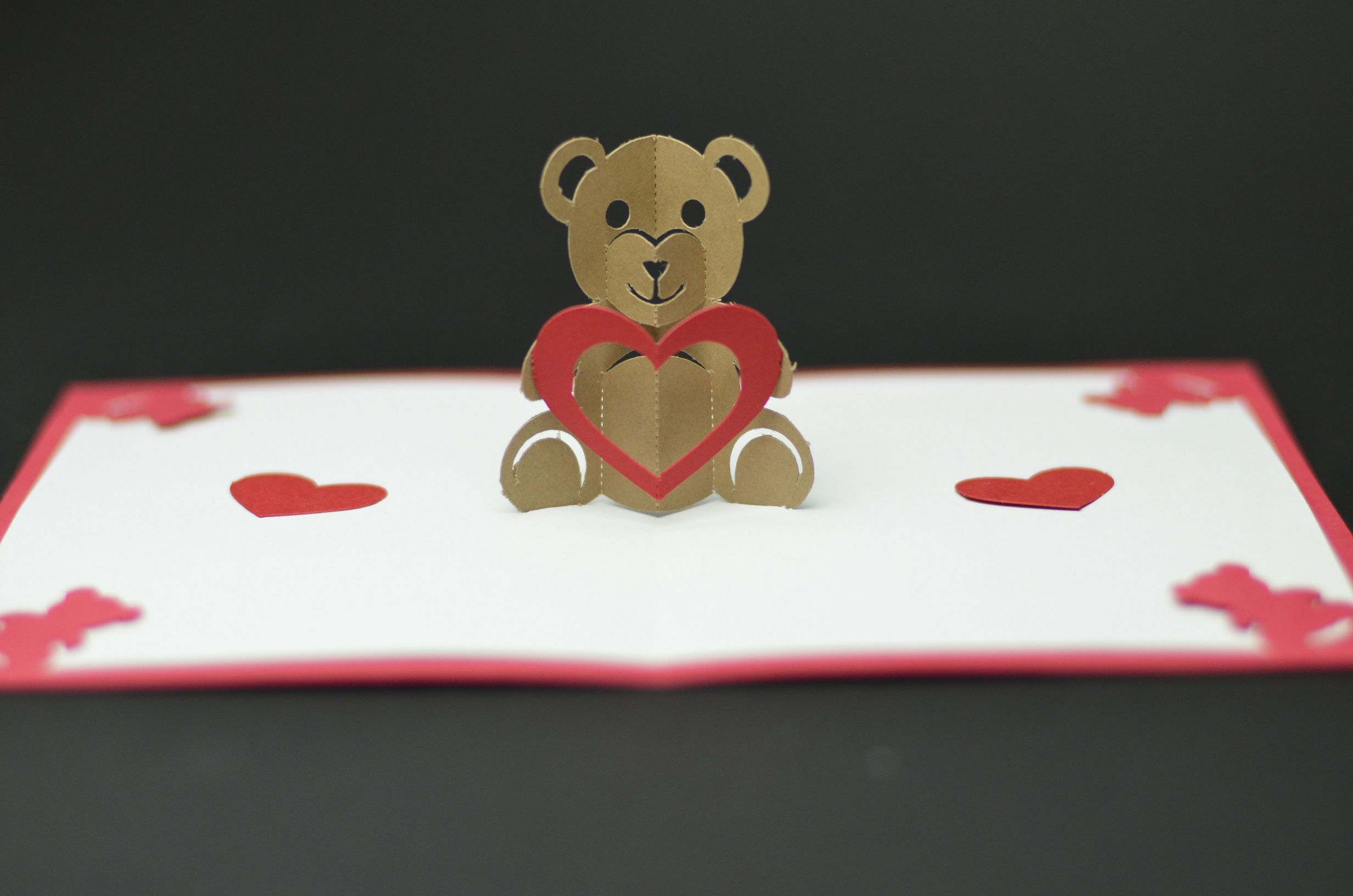 Free Valentines Day Pop Up Card Templates. Teddy Bear Pop Up Regarding Teddy Bear Pop Up Card Template Free