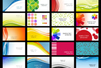 Free Vector Variety Of Dynamic Flow Line Of Business Card for Templates For Visiting Cards Free Downloads