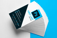 Free Vertical Business Card Template In Psd Format intended for Calling Card Template Psd