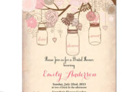 Free Vintage Wedding Invitation Templates Bridal Shower In Blank Bridal Shower Invitations Templates